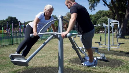 Free gym classes are taking place in Dovercourt. Picture: TENDRING COUNCIL