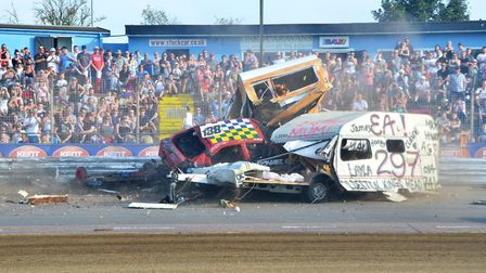 Foxhall will host another Banger/Caravan Demolition Derby this August Bank Holiday Monday. Picture: