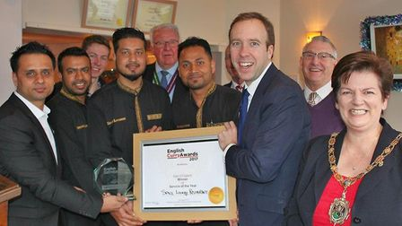 The Spice Lounge team win big at last years English Curry Awards Picture: THE SPICE LOUNGE