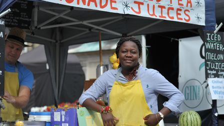 Maria selling freshly squeezed lemonade Picture: SARAH LUCY BROWN