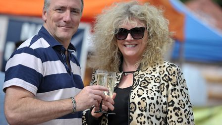 Jon Green and Jane-Ann Urquharrt enjoy a glass of prosecco Picture: SARAH LUCY BROWN