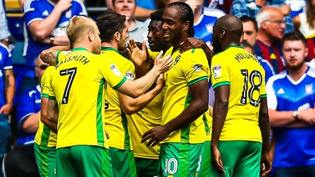Cameron Jerome, centre pictured celebrating a goal at Portman Road, doesn't want to sour his memorie
