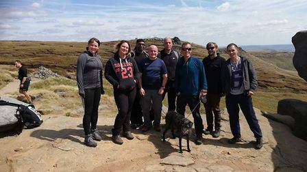 Pictured, left to right, ahead of the Three Peaks Challenge are Shez Bucknole, Clare Lincoln, Bruce