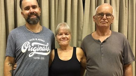 Paul, Joann and Lee Dale who have, between them lost a total of 9st 3lbs. Pictrure: SUSAN MCGREGOR