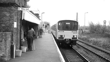 Russell Whipps taking a photograph at Melton Station in 1985