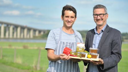 Jamie Symons and Vernon Blackmore with their product, ' Choose Spice 'Picture: SARAH LUCY BROWN