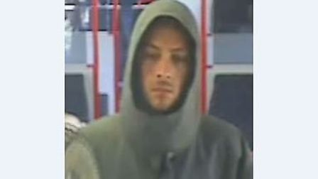 British Transport Police would like to speak to this man following an assault on board a train betwe