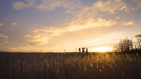 Sunrise over the reed beds at Snape Maltings, home of the Snape Proms Photo: Matt Jolly