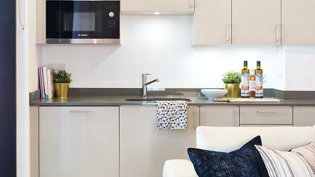 Fitted kitchens feature Bosch integrated microwave ovens, fridge-freezers, dishwashers and washer-dr