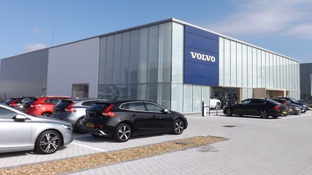 The spacious, new Donalds Volvo showroom at Futura Park. Picture: Andy Russell