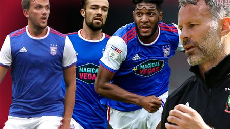 Ryan Giggs is keeping an eye on three Ipswich Town players. Picture: PA/ARCHANT