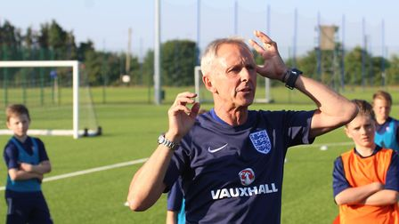 Pete Sturgess, FA National Foundation Phase Lead, during the showcase event at the Ipswich Town Trai