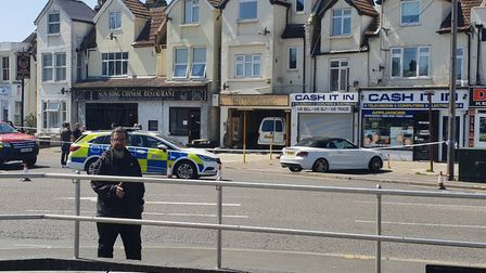 The van crashed into The Hairdresser in Old Road, Clacton, in May Picture: JON COWAN