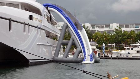 A giant slide provided by Superyacht Tenders & Toys. Picture: Superyacht Tenders & Toys