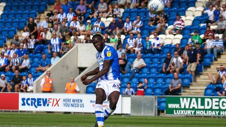 Frank Nouble sends a golden opportunity skywards during the first home game of the season, a 2-0 win