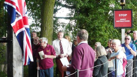 Visitors at the Middy's war memorial unveiling. Picture: JOHN REEVE