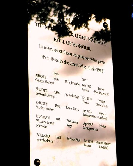 The memorial to the Middy workers who died in the First World War. Picture: GERALDINE SMITH