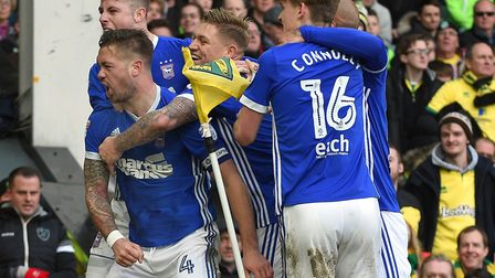 Luke Chambers put Ipswich Town in front late on at Carrow Road last season but the Blues' wait for a
