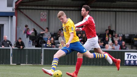 Billy Holland, who has signed a three-year deal at AFC Sudbury. Photo: CLIVE PEARSON