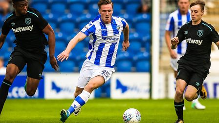 Cameron James, on the ball for Colchester United against West Ham in a pre-season friendly. James ha