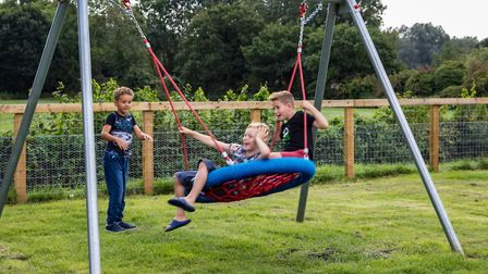 Children from Stratford St Andrew, Farnham and the surrounding villages all use the play area Pictur