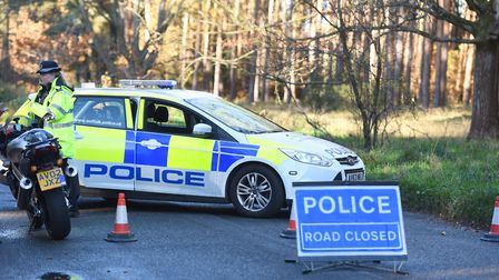The A134 near Alpherton is shut in both directions due to a traffic accident. Picture: GREGG BROWN