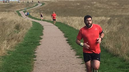 Runners negotiate the undulating gravel paths around Heartwood Forest duirng last weekend's parkrun.