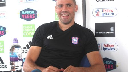 Jon Walters speaking to the press earlier today. Photo: Ross Halls