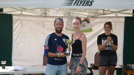 Sam Lines was the fastest woman finishing in just under 37 minutes Picture: PHILIP DONLAN
