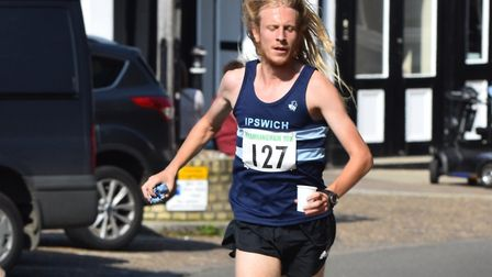 Jack Millar, on his way to a course record at last Sunday's Framlingham 10K. Picture: PHILIP DONLAN
