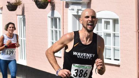 One of the 340 or so runners who took part Picture: PHILIP DONLAN