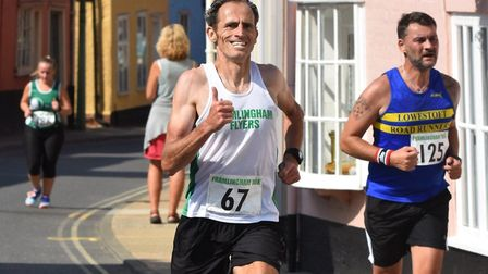 Adam Howlett, of the host club Framlingham Flyers, who was first veteran and eighth overall at the F
