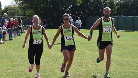 If you all cross the line together no one loses right? Picture: PHILIP DONLAN