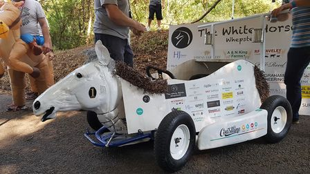The White Horse at Whepstead entered with this kart Picture: RACHEL EDGE