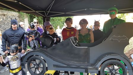 This bat-mobile took to the streets of Bury St Emdunds on Saturday Picture: RACHEL EDGE