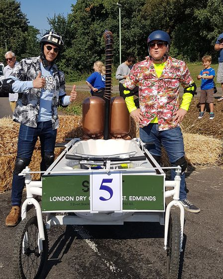 This team hoped their large bike wheels would give them an advantage Picture: RACHEL EDGE