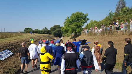 Teams dressed as pirates, animals and historic characters for the soap box challenge Picture: RACHEL