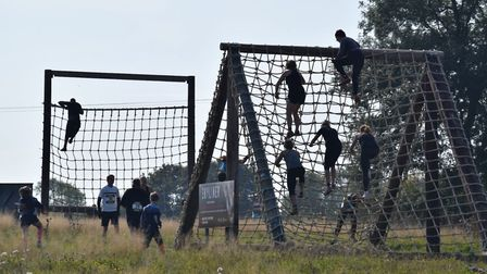 An obstacle course is the final part of the triathlon Picture: GEEWIZZ