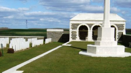 The cemetery in France where William Harvey is buried. Picture; JOHN HARVEY