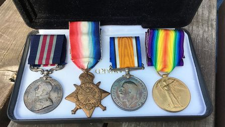 William Harvey's medals. The Military Medal is on the far left. Picture: PAUL GEATER