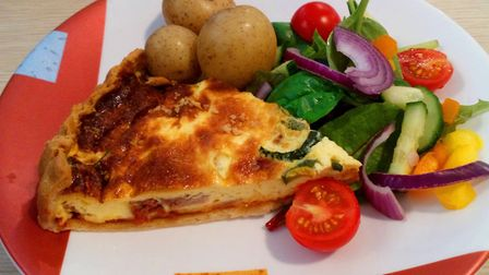 Bacon and courgette quiche Picture: Archant