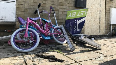 Children's bicycles were left outside the affected property Picture: NEIL DIDSBURY