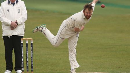 Tom Piddington, who took six wickets as Hadleigh recorded a vital win over fellow strugglers Elmstea