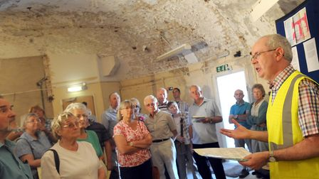 Visitors enjoying a tour of Martello Tower P at a previous Felixstowe Heritage Weekend Picture: SU A
