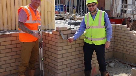 Bricklaying stage has been reached at a new £4m social housing scheme at Tayfen Road, Bury St Edmund