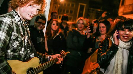 Before becoming a global megastar, Ed Sheeran played at The Swan in Ipswich in 2010 Picture: JEN O'