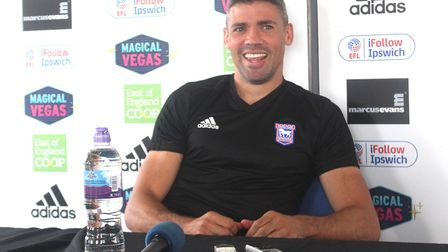 Jon Walters talks to the press following his signing Picture: ROSS HALLS