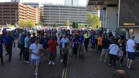 ITFC fans making their way into the stadium ahead of the big game Picture: ARCHANT