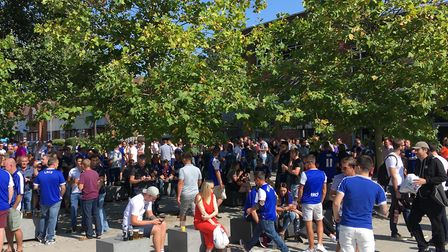 ITFC fans at Curve bar ahead of the big game Picture: ARCHANT
