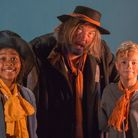 Joss Peralta as the Artful Dodger, Nick Murray Brown as Fagin and Daniel Hunt as Oliver in the Marin